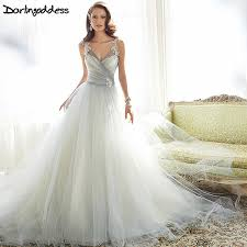 Real Picture Simple Beach Wedding Dress y Lace Tulle Plus Size