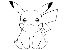 Download Coloring Pages Pikachu Free Printable To Print