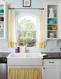 Kitchen Drapery Ideas 16 Diy Kitchen Window Treatments For An Easy Refresh