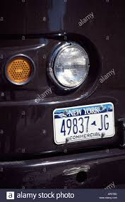 New York License Plate On A Commercial Truck, Manhattan Stock Photo ...