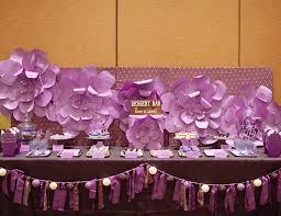 Purple Elegant Dessert Table
