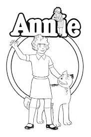 Annie The Musical Coloring Pages