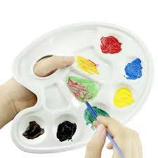 Amazon Art Alternatives Paint Tray 10 Wells With Thumb Hole Pack Of 1 Palette Office Products