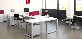 bureau partagé artdesign bureaux design avec plateaux mélaminéhêtre ou blanc uni
