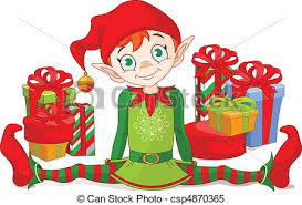 Christmas present pile Clipart Vector and Illustration