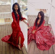 red sparkly prom dress with sleeves naf dresses