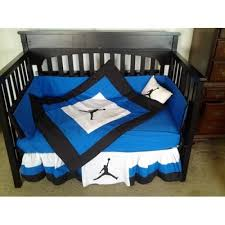 michael jordan crib bedding set royal blue white and black