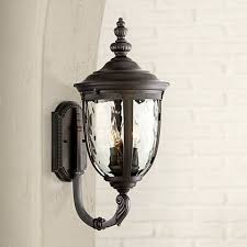 bellagio collection 21 high black outdoor wall light 49291