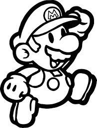 Paper Mario Coloring Pages Page Wecoloringpage To Download
