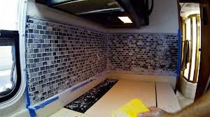 rv backsplash improvement replacement with tile