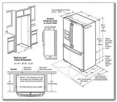 counter depth refrigerator dimensions samsung cabinet home