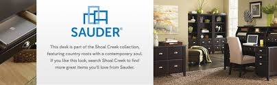 amazon com sauder shoal creek computer desk soft white finish