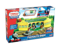thomas and friends trackmaster tidmouth sheds playset amazon co