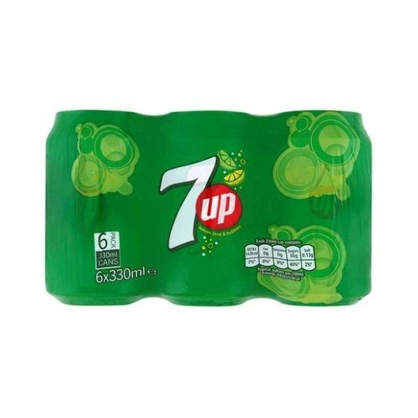 7Up Soft Drink - 330ml, 6pk