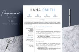 100 Resume Two Pages Professional Design 4 Template