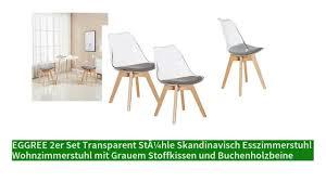 eggree 2er set transparent stühle skandinavisch