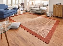 design teppich flachgewebe simple mit bordüre terracotta teppich