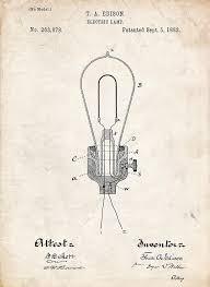 edison light bulb patent drawing by stephen chambers