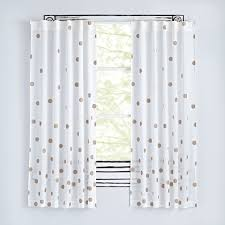 curtains unbelievable white curtains with gold polka dots