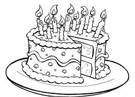 Cake Coloring Pages Free Printable Birthday For Kids Drawing
