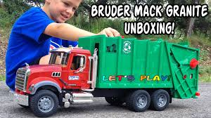 Garbage Truck Video L For Kids L Bruder Mack Granite Unboxing And ... Kids Garbage Truck Videos Trucks Accsories And City Cleaner Mini Action Series Brands Learn For Children Babies Toddlers Of Toy Air Pump Products Www L Tons Fun Lets Play Garbage Trash Can Toys Green Recycling Dickie Blippi Youtube Video Teaching Colors Learning Unlock Pictures Binkie Tv Numbers Bruder Mack Vs Btat Driven Toddler Toy Lovely For Toys