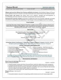 Resume Example For Former Military Professional This University Student Has Recent Business Degree And Internship Experience Working A Financial