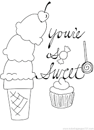 ice cream cup coloring pages to her with cupcake template to color candy cupcake ice cream cone
