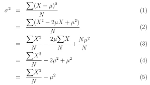 Equation For Calculating The Variance