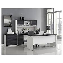 Ameriwood L Shaped Desk With Hutch by Pursuit U Shaped Desk With Hutch Bundle White Gray Ameriwood