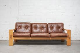 Vintage Bonanza Cognac Brown Leather Sofa by Esko Pajamies for