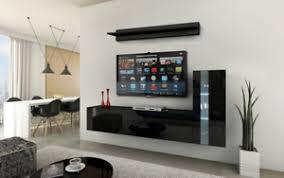 details zu moderne wohnwand future 46 hochglanz led beleuchtung möbel wohnzimmer klein