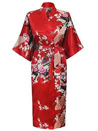 kimono robe de chambre femme cityoung kimono japonais en satin robe de chambre peignoir