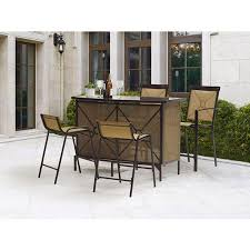 Patio Dining Chairs Walmart by Mainstays Palmerton Landing 5 Piece Bar Height Patio Dining Set