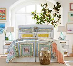 Pottery Barn Master Bedroom by Vince Metal Clad Accent Stool Pottery Barn Bricks Banisters