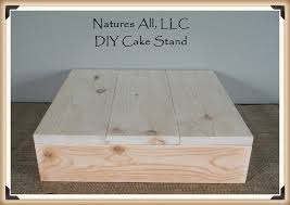 16 DIY Rustic Wedding Cake Stand Country Unfinished Natural Wood