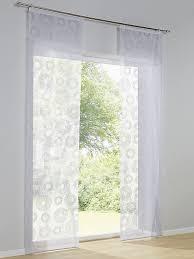 heine home schiebevorhang unifarben leicht transparenter