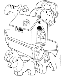 Free Printable Noah Ark Bible Coloring Page