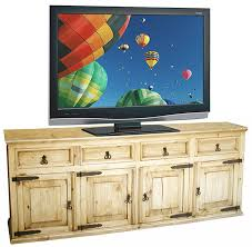 Rustic Pine TV Credenza