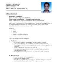 Production Operator Resume Brilliant Ideas Of Sample For Format Throughout Manufacturing