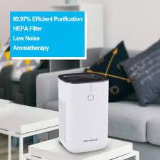 rovacs luftreiniger mit h13 true hepa filtern luftreiniger allergie air purifier mit schlafmodus desktop luftfilter für allergien und haustiere