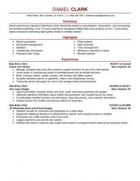 Resume Summary Examples Entry Level