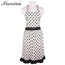 femmes plus cuisine neoviva polka dot coton robe tablier pour adulte femmes plus taille