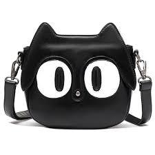 amazon com hanshu cute big eyes cat sling bag should bag for
