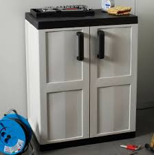 Hdx Plastic Storage Cabinets by Black And Decker Plastic Storage Cabinets With Hdx 27 In W 4 Shelf