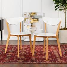 Retro Modern White Dining Chairs Set Of 2 | Pier 1 White Fniture Co Mid Century Modern Walnut Cane Ding Chairs Bross White Fabric Chair Resale Fniture Of America Livada I Cm3170whsc2pk Coastal Set 2 Leatherette Counter Height Corliving Hillsdale Bayberry Of 5791 802 4 Novo Shop Tyler Rustic Antique By Foa On 4681012 Pieces Leather In Black Brown Sydnea Acrylic Wood Finished Amazoncom Urbanmod