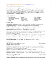 Retail Store Manager Resume Template Sample For Position