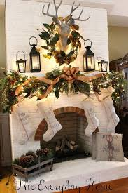 Top 14 Rustic Christmas Fireplace Mantel Decors Easy Party Interior Design Project