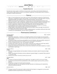 Resume Objective Examples Accounting