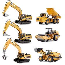 KIDS TOY 1:50 Mini Alloy Construction Truck Excavator Digger ...