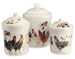 Decorative Metal Kitchen Canisters Rooster DecorRooster